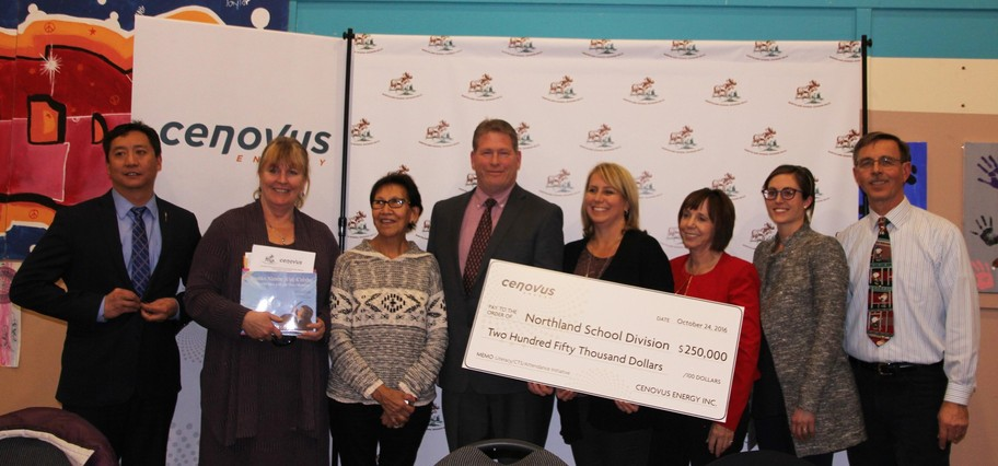 Cenovus donates $250,000 to Northland School Division No.61 October 24, 2016