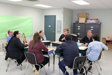 Regional Education Program Review Community Engagement at Bishop Routhier School on April 11, 2018